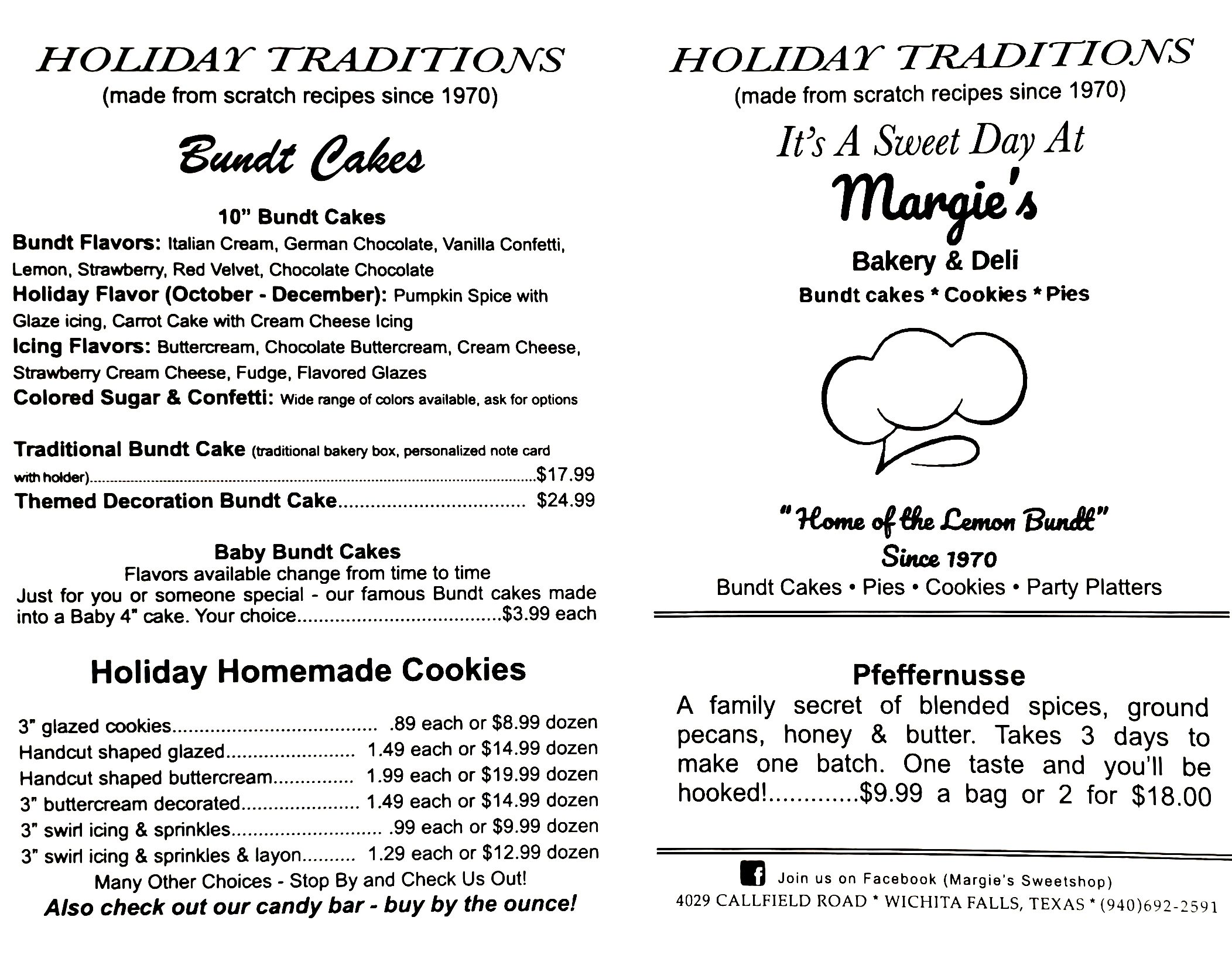Holiday Menu 1